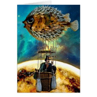 Balão dos peixes do sopro - cartão