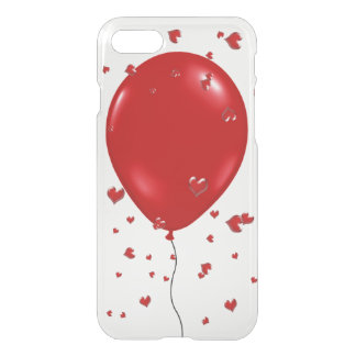 Balão e corações Caso-Vermelhos do iPhone 7 Capa iPhone 7