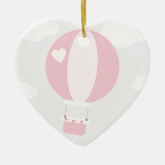 balão ornamento de cerâmica coração