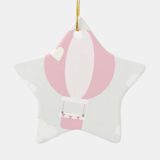 balão ornamento de cerâmica estrela