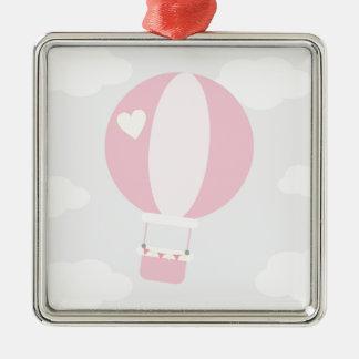 balão ornamento quadrado cor prata