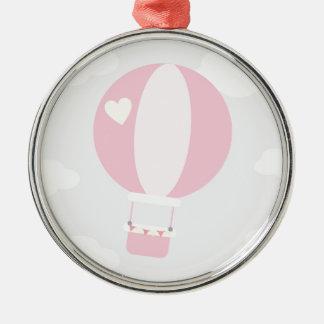 balão ornamento redondo cor prata