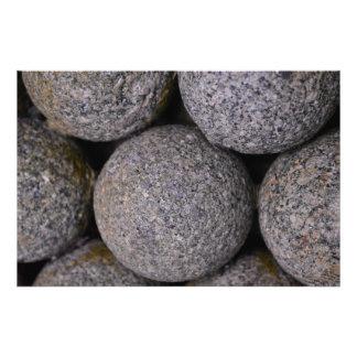 """Balas de canhão de pedra 36"""" x 24"""" impressão de foto"""
