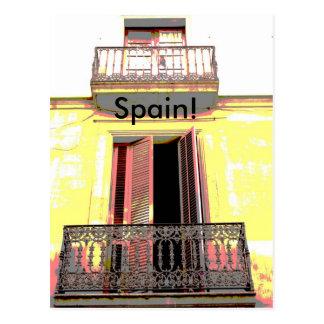 Balcão espanhol cartões postais