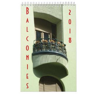 Balcões - calendário - 2018
