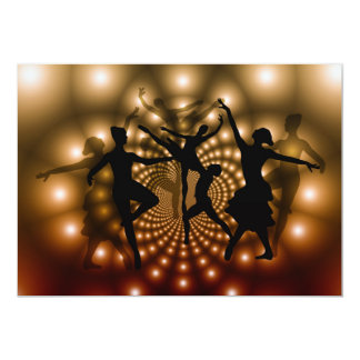 BALÉ ballet-359982 que DANÇA VECTORGRAPHICS CLASSI Convite 12.7 X 17.78cm