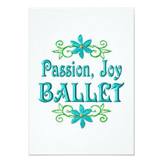 Balé da alegria da paixão convite 12.7 x 17.78cm
