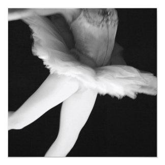 Balé - dança - bailarina 9 - preto & branco convites personalizados
