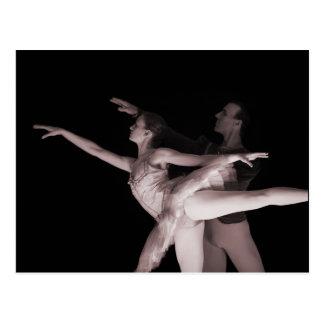 Balé - dança Partners 2 - vermelho Cartoes Postais