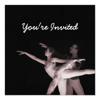 Balé - dança Partners 2 - vermelho Convite