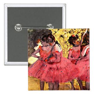 BALÉ--Desgaseifique: Os dançarinos cor-de-rosa Bóton Quadrado 5.08cm