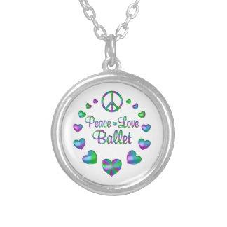 Balé do amor da paz colar banhado a prata