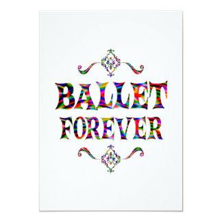 Balé para sempre convite 12.7 x 17.78cm
