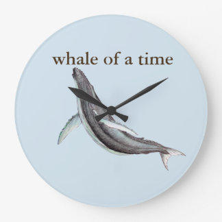 baleia de um relógio de ponto