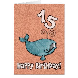 baleia do BD - 15 Cartão Comemorativo