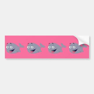 Baleia dos desenhos animados, mamífero do mar adesivo para carro
