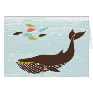 Baleia náutica todo o cartão da ocasião