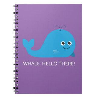 Baleia, olá! lá! Caderno