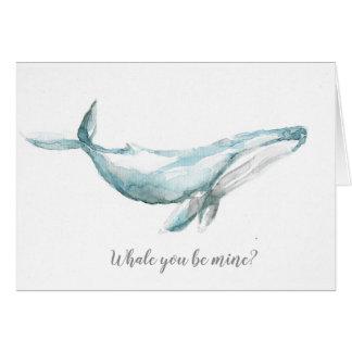 Baleia você seja meu? Cartão da arte