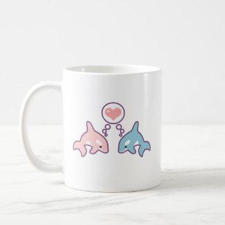Baleias bonitos caneca de café