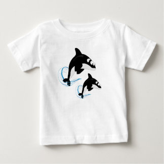 baleias camiseta para bebê