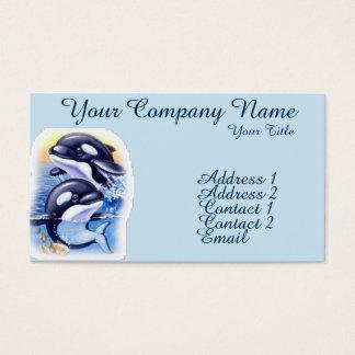 Baleias de assassino felizes cartão de visitas