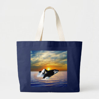 Baleias no por do sol bolsas
