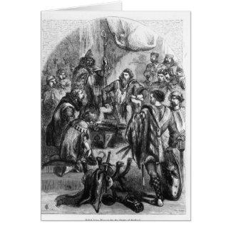 Baliol que faz a homenagem para a coroa de Scotlan Cartao