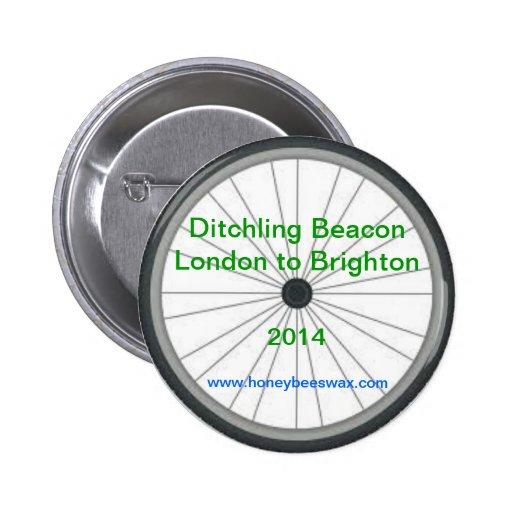 Baliza de Ditchling - Londres a Brigghton 2014 Boton