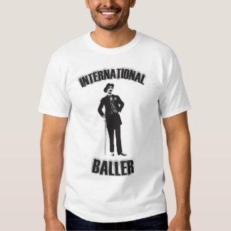 Baller internacional. Cavalheiros somente Tshirts