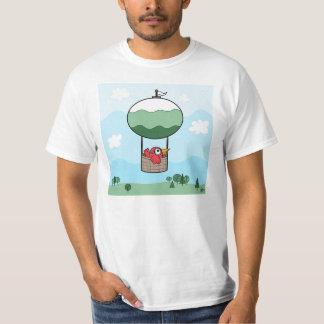 Ballon do ar quente do pássaro - t-shirt básico