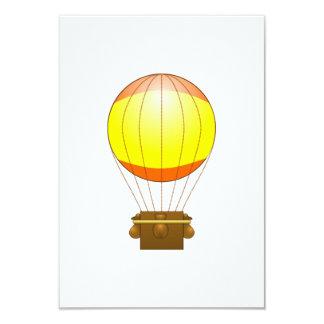 Ballon do ar quente dos desenhos animados convite 8.89 x 12.7cm
