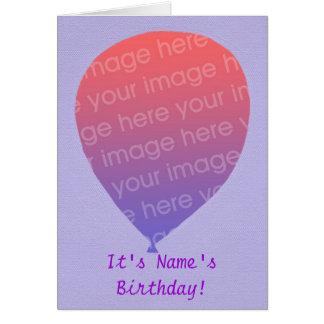 Balloon o modelo, adicione a foto, cartões da