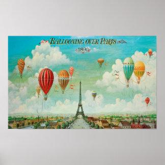Ballooning sobre o poster de Paris