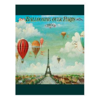 Ballooning sobre Paris Cartão Postal