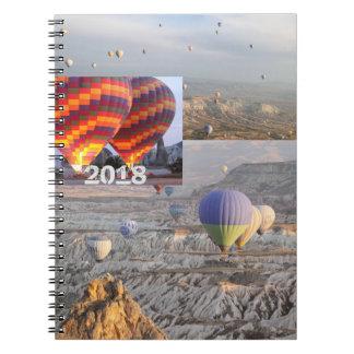 Balloons o caderno da foto do vôo