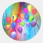 Balões brilhantes do aniversário adesivo