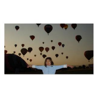 balões da criança e de ar quente cartão de visita