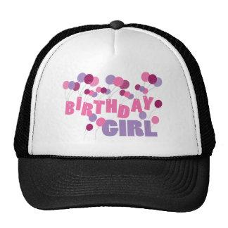 Balões da menina do aniversário boné