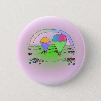 Balões de ar quente do arco-íris bóton redondo 5.08cm