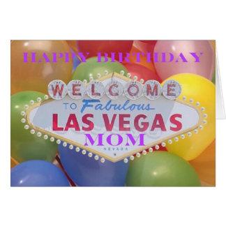 Balões de Las Vegas! Cartão da MAMÃ do feliz