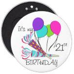 Balões do aniversário e chifres do partido boton