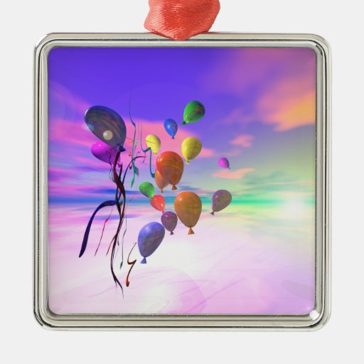 Balões do céu do feliz aniversario ornamentos