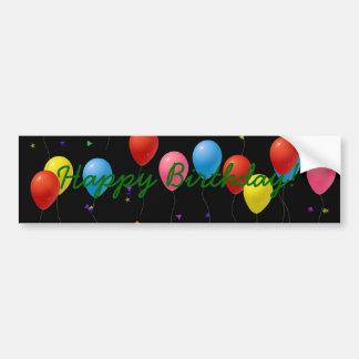 Balões do feliz aniversario adesivos