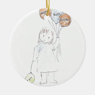 Balões do feliz aniversario ornamento para arvore de natal