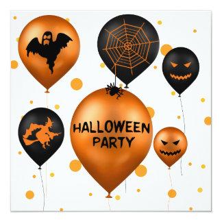 Balões do partido do Dia das Bruxas - convite