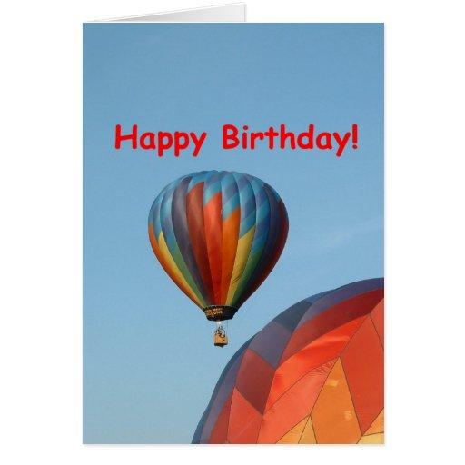 Balões, feliz aniversario, 2 genéricos cartão