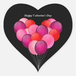 Balões ilustrados do dia dos namorados adesivo coração