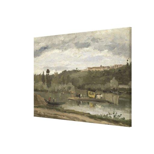 Balsa em Varenne-Santo-Hilário, 1864 Impressão De Canvas Esticadas