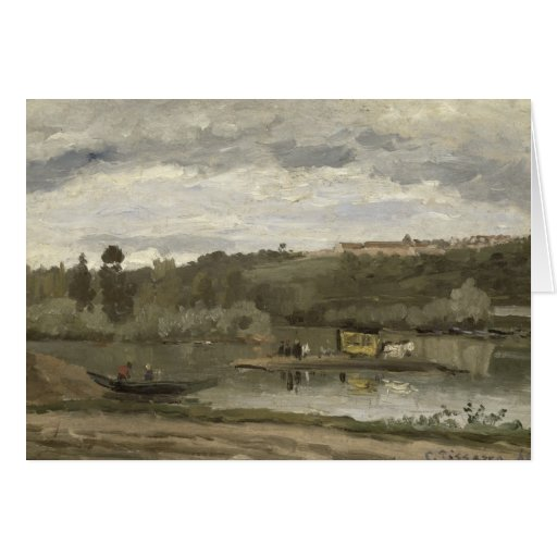 Balsa em Varenne-Santo-Hilário, 1864 Cartoes